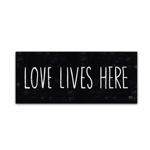 Trademark Global Michael Mullan 'Love Lives Here' Canvas Art