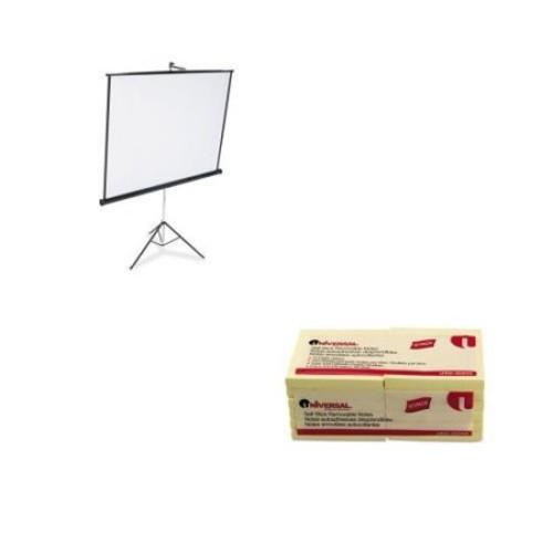 Quartet Value Kit - Quartet Portable Tripod Projection Screen (QRT570S) and U...