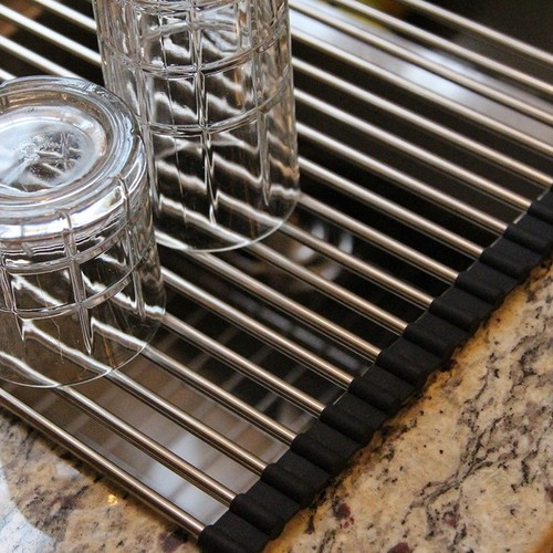 Highpoint Collection Stainless Steel Roll-up Kitchen Mat