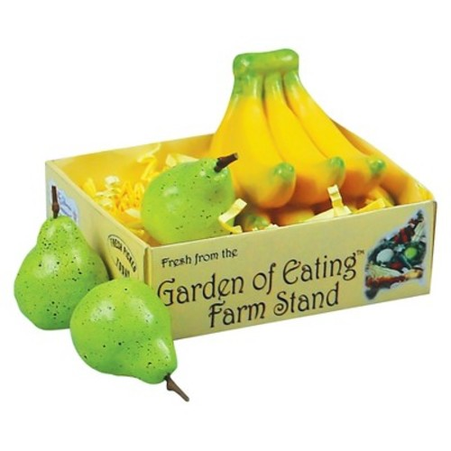 Farm Fresh 18 Inch Doll Bananas & 3 Pears Packaged in a Paper Veggie Crate! Food Kitchen Accessories Fits American Girl Dolls & More. Use with the Queens Treasures Interchangeable Farm Stand