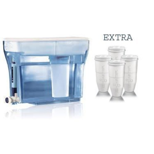 ZeroWater ZD-018 23-cup Water Filtration System Dispenser + Replacement Filter 1-pack