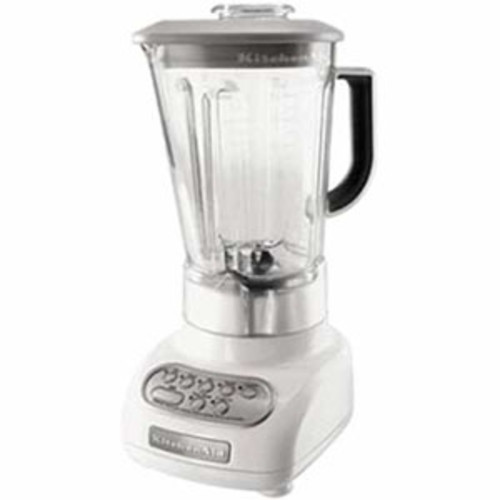 KitchenAid KSB560WH 5-Speed Blender with Polycarbonate Jar, White