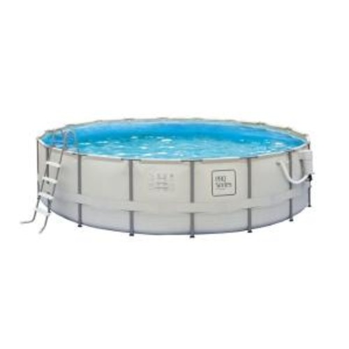 Summer Waves Elite 18 ft. Round 52 in. Deep Metal Frame Swimming Pool Package