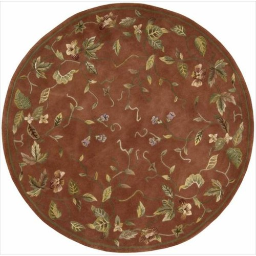 Nourison Hand-tufted Julian Floral Spice Rug (6' Round)