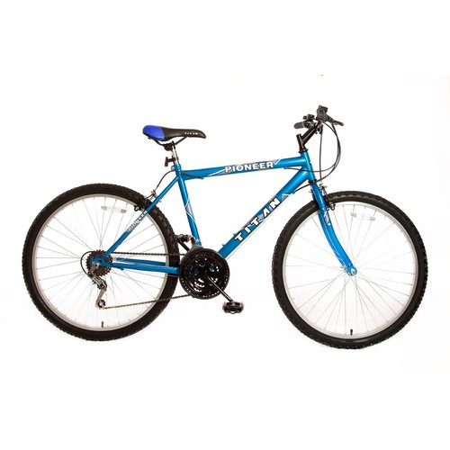 Titan 102-8418 Pioneer Men's All-Terrain Blue Mountain Bike