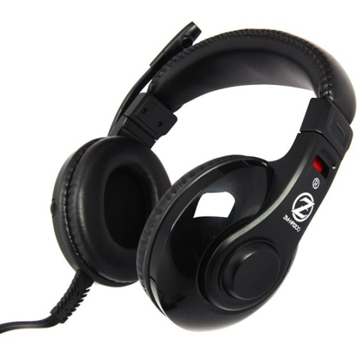 Zalman USA Gaming Headset with Built-in Mic, Black, HPS200