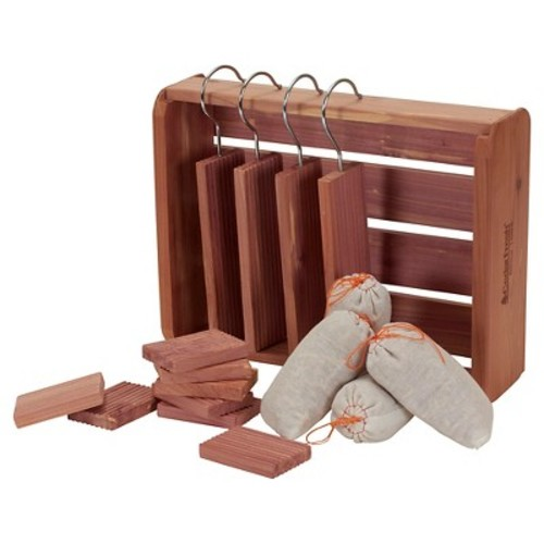 Household Essentials - 16 Pc Cedar Storage Accessory Set Deluxe - Natural