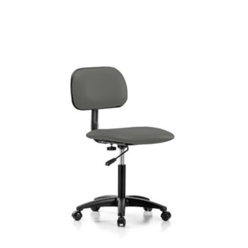 Perch Chairs & Stools Low-Back Desk Chair; Charcoal Vinyl
