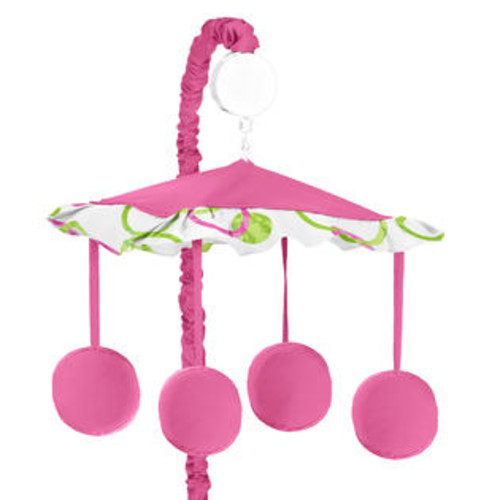 Sweet Jojo Designs Pink and Green Mod Circles Collection Musical Mobile