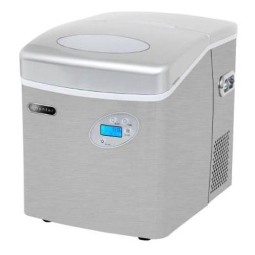 Whynter 49 lb. Portable Ice Maker in Stainless Steel with Water Connection