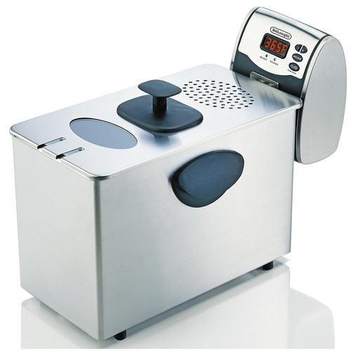 DeLonghi D14427DZ Dual-Zone Deep Fryer, Stainless Steel