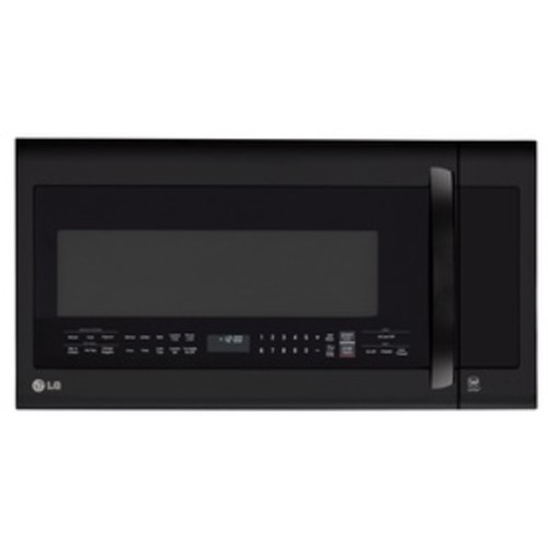 LG 2-cu ft Over-the-Range Microwave with Sensor Cooking Controls and Speed Cook (Smooth Black) (Common: 30-in; Actual: 29.875-in)