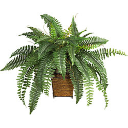 Nearly Natural Artificial Plants Silk 33-inch Potted Boston Fern