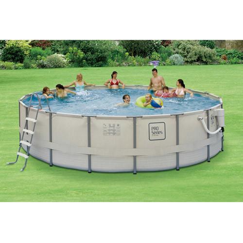 Summer Waves Elite Metal Frame Swimming Pool Package, 15-ft Round x 48-in Deep [15' x 48