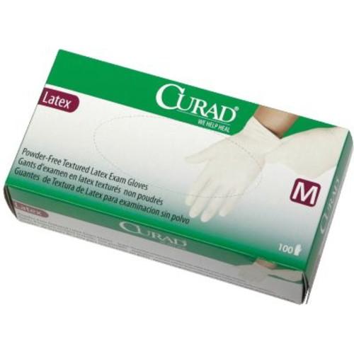 Medline Curad CUR8104H Small Powder-free Latex Exam Gloves 100/Box, Beige