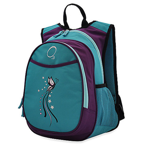 O3 Kids All-in-One Backpack with Cooler in Turquoise Butterfly