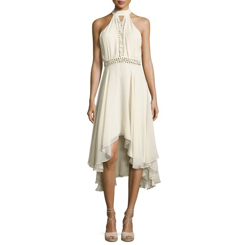 HAUTE HIPPIE The Free Spirit Lace-Up Silk Dress, Antique White