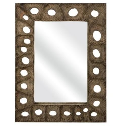 Bloomsbury Market Nisha Rectangle Carved Wood Mirror