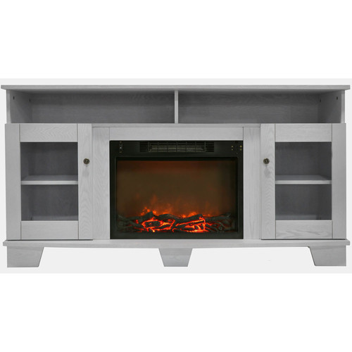 Cambridge Savona Fireplace Mantel with Electronic Fireplace Insert, White