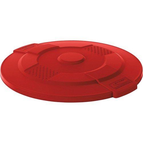 Suncast 55-Gallon Utility Trash Can Lid  Red,