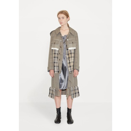 Wool Gauze Hooded Trench Coat