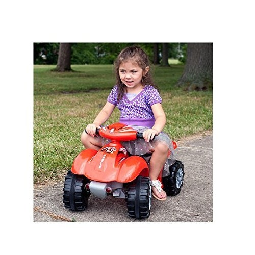 Ride On Toy Quad, Battery Powered Ride On ATV Dinosaur Four Wheeler With Sound Effects by Lil' Rider  Toys for Boys and Girls 2 - 4 Year Olds (Red)