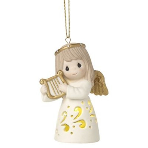 Precious Moments Make Sweet Melody Lighted Christmas Ornament