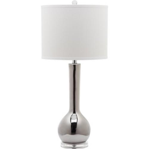Mae 30.5Inch H Long Neck Ceramic Table Lamp Silver - Safavieh
