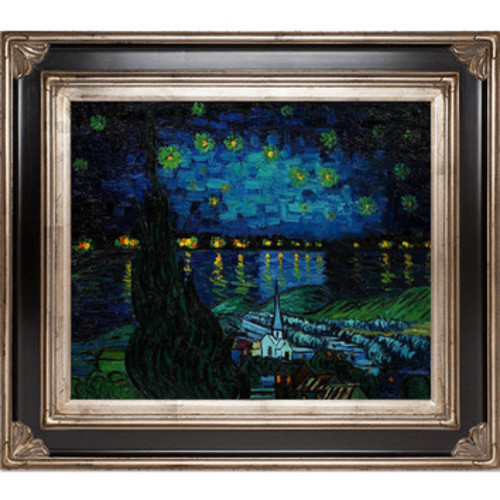 Starry Rhone Collage by Vincent Van Gogh Framed Painting