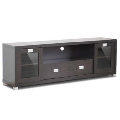 Baxton Studio Gosford 69-Inch TV Stand in Dark Brown