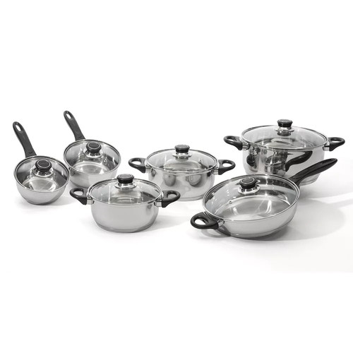 BergHOFF Ostend 12-pc. Stainless Steel Cookware Set