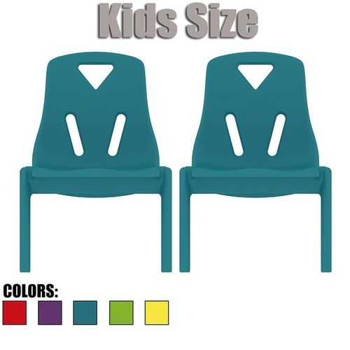 2xhome - Set of Two (2) - Kids Size Plastic Side Chair 10