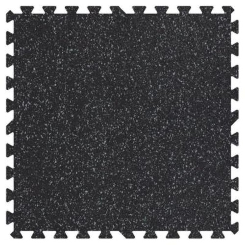 Groovy Mats Grey Speck 24 in. x 24 in. Rubber Comfortable Mat (48 sq.ft. / Case)