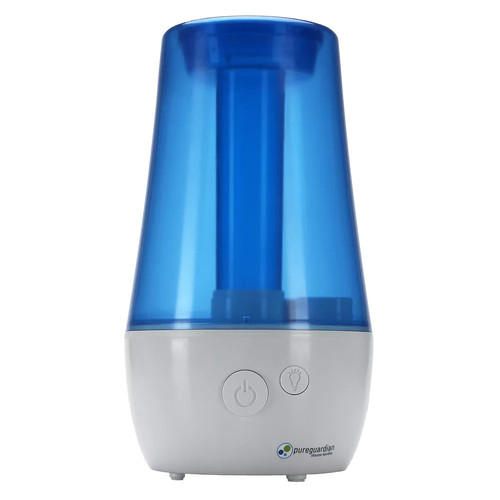 PureGuardian - 1.1-Gal. Ultrasonic Cool Mist Portable Humidifier - White/Blue