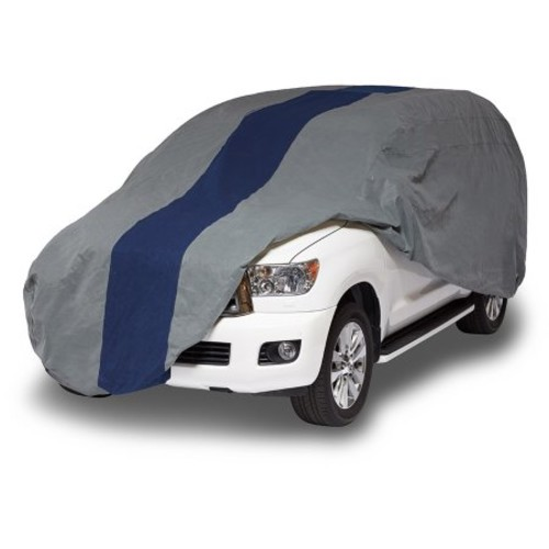 Duck Covers Double Defender Semi-Custom SUV Cover, Fits SUVs or Trucks with Shell or Bed Cap up to 17 ft. 5 in.