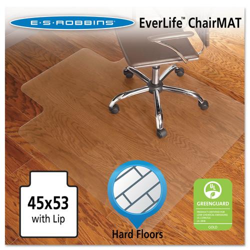 E.S. Robbins 45x53 Lip Chair Mat, Economy Series for Hard Floors