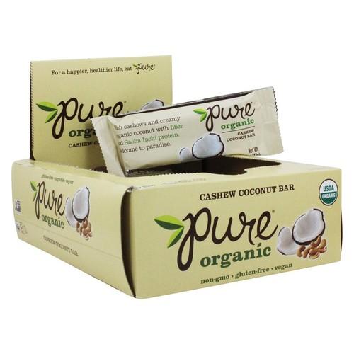 PureBar - Pure Organic Fruit & Nut Bars Box Cashew Coconut - 12 Bars