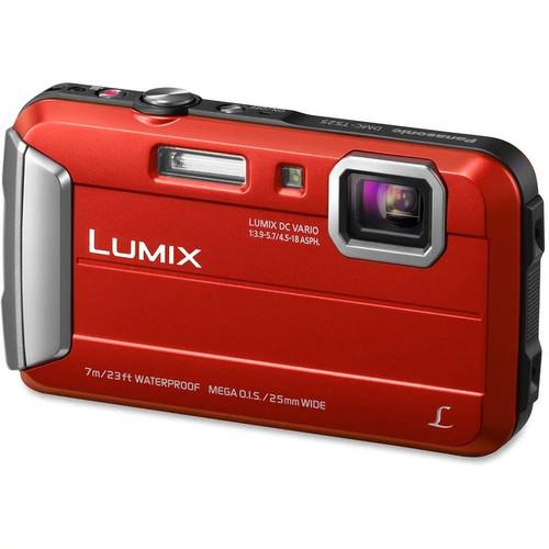 Panasonic Lumix DMC-TS25 16.1 Megapixel Compact Camera - Red - (Refurbished)