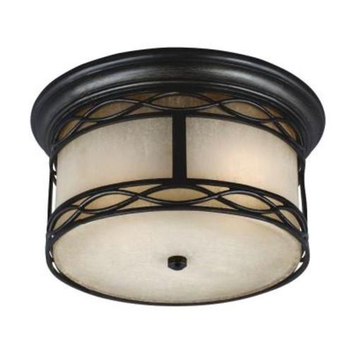 Feiss Wellfleet 1-Light Aged Bronze Outdoor Ceiling Fixture