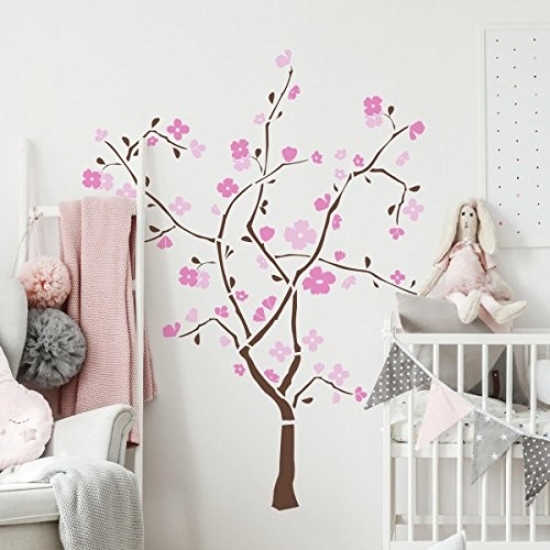 ROOMMATES RMK1555GM Spring Blossom Peel & Stick Giant Wall Decal