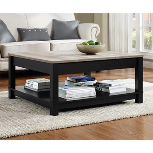 Altra Carver Coffee Table - Black/Sonoma Oak