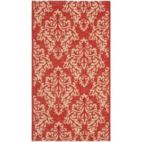 Safavieh Courtyard Red/Cream 2 ft. x 3 ft. 7 in. Indoor/Outdoor Area Rug