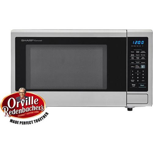 Sharp Carousel 1.4 Cu. Ft. 1000W Countertop Microwave Oven with Orville Redenbachers Popcorn Preset SMC1442CS