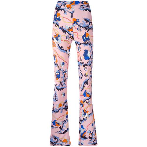 EMILIO PUCCI Printed Flared Trousers