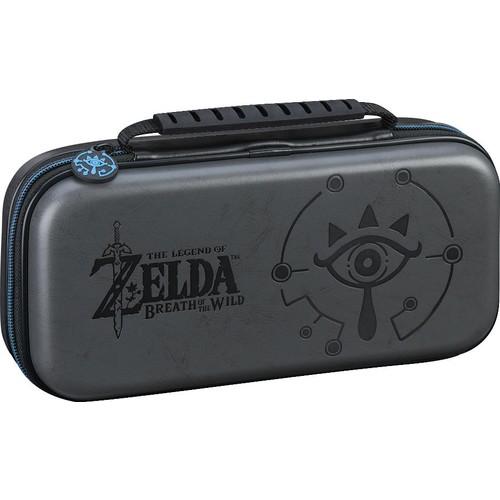Zelda Breath of the Wild Sheikah Eye Game Traveler Deluxe Travel Case for Nintendo Switch - Grey