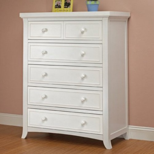 Sorelle Alex 5 Drawer Chest - White