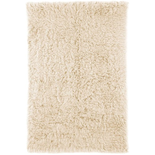 Hand Woven Genuine Greek Flokati Rug in Natural design by Nuloom - 2'6 x 8