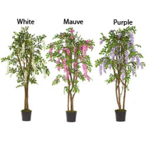 Nearly Natural Artificial Plants 6.5-foot Wisteria Silk Tree