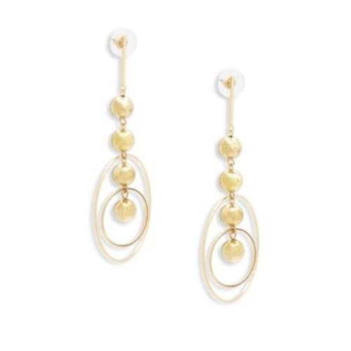Cara - Linear Hoop Drop Earrings