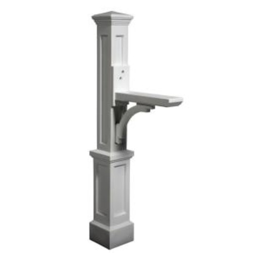 Mayne Newport Plus Plastic Mailbox Post, White